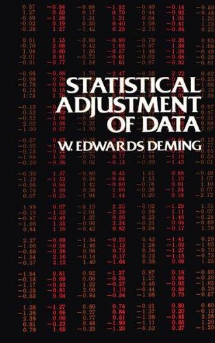 Statistical Adjustment of Data (Dover Books on Mathematics)
