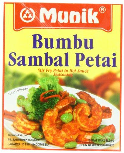 Munik Bumbu Sambal Petai Stir Fry Petai in Hot Sauce Seasoning (Low Sodium Stir Fry Sauce compare prices)