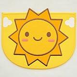 ポケット付ワッペン 太陽(イエロー) XP1000-XP04