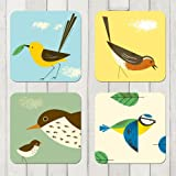 Magpie Birdy Set of 4 Coasters
