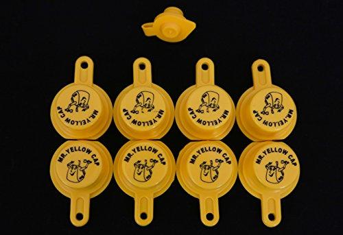 Yellow Gas Can Cap That Fits Your Vintage Blitz Spout - 8 Single Caps & 1 FREE Vent (Blitz Gas Cans compare prices)