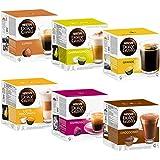 Nescafé Dolce Gusto Capsules Basique-Kit: Lungo, Cappucino, Latte Macchiato, Espresso, Chococino, Crema Grande, 6 x 16 Capsules