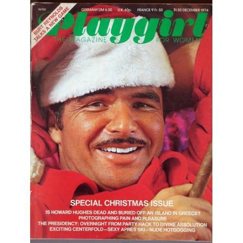 Playgirl Magazine: December 1974 Burt Reynolds cover! Christmas issue