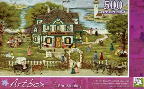 "Ann Stookey 500 Piece Puzzle ""Peach Blossom Ladies Social Club"""