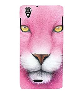 Vizagbeats pink lion Back Case Cover for Lava 800