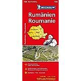 Michelin Rumänien: Straßen- und Tourismuskarte 1:750.000 (Michelin Nationalkarte)