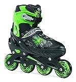 [ロチェス]ROCES COMPY BOY M(19-21cm) black-light green インラインスケート キッズ ジュニア 子ども 用 国内正規代理店品
