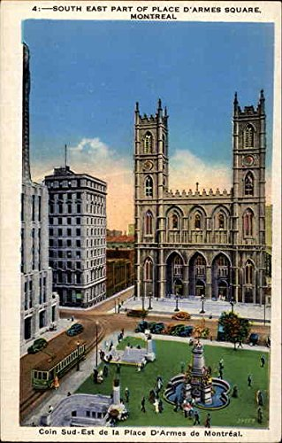 South East Part Of Place D'Armes Square Montreal, Qc Original Vintage Postcard