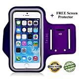 Lifetime Warranty + FREE Screen Protector Eco-Friendly Tribe Sports Running Armband + Key Holder Anti Slip Sweat Resistant For Apple iPhone 6 Plus (5.5