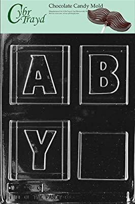 Cybrtrayd B015 Baby Block Baby Chocolate Candy Mold, Large