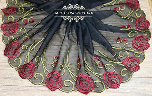 3-yardas-guipure-borde-de-encaje-negro-rejilla-inferior-del-multicolor-ancho-bordado-floral-retro-16