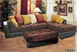 2 pcs Sectional Modern Fabric Sofa Set, Item#BQ-194P1