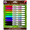 Board Dudes SRX Dry Erase Markers, Medium Point, 10-Count, Assorted Colors. Packaging May Vary from Image (DDC99)