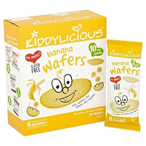 Kiddylicious 20 Tranches De Bananes En Provenance De 6 Mois Et 10 X 4G - Paquet de 2