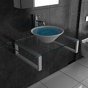 keramik klarglas waschplatz designer waschtisch alpenberger serie 50 badezimmer g ste. Black Bedroom Furniture Sets. Home Design Ideas