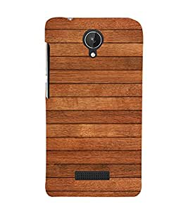 Brown Wood Texture 3D Hard Polycarbonate Designer Back Case Cover for Micromax Canvas Spark Q380