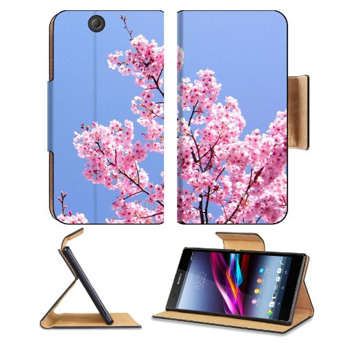 Cherry Blossom With Blue Sky Sony Xperia Z Ultra Flip Case Stand Magnetic Cover Open Ports Customized Made To Order Support Ready Premium Deluxe Pu Leather 7 1/4 Inch (185Mm) X 3 15/16 Inch (100Mm) X 9/16 Inch (14Mm) Msd Sony Xperia Z Ultra Cover Professi
