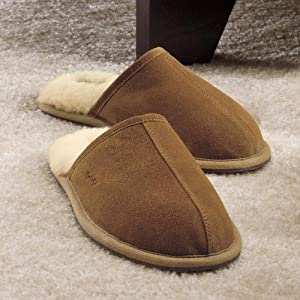 Brookstone NAP Suede Slip-Ons Indoor/Outdoor Large