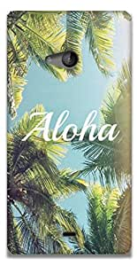 The Racoon Grip printed designer hard back mobile phone case cover for Microsoft Lumia 540. (aloha)