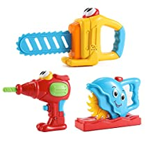 Cartoon Electronic Tools Set with Realistic Motion and Sounds for Toddlers (Set of 3)
