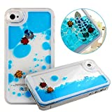 Case for iPhone 4s,Cover for iPhone 4s,Case for iPhone 4,Hard Case for iPhone 4s,Nsstar™ Creative Design Flowing Liquid Swimming Fish Hard Case for Apple iPhone 4 4S with 1PCS Free Cup Mat Color Random(Blue) thumbnail