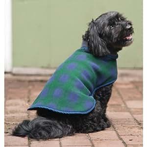 Fashion Pet Outdoor Dog Plaid Fleece Jacket, X-Large, Blue