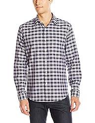 Theory Men's Rammy Grange Long Sleeve Button Down Shirt, Fading Multi, Medium