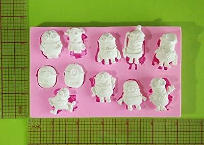 Wocuz W0803 Silicone Minions Fondant Mold Candy Making Mould Cake Decoration Sugar Craft Tool