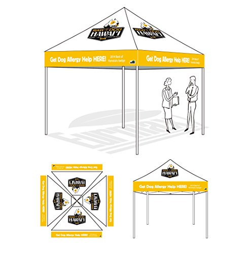 Eurmax 10 X 10 Pop Up Canopy Digital Printed Custom Canopy Ez Pop Up Commercial Garden Canopy Fair Tent (10 X 10) front-1040899