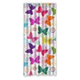 Colorful Butterflies Butterfly Pattern Custom Window Curtains/Patio Door Curtain/Panels/Treatment, 50 by 108-Inch (One Piece)