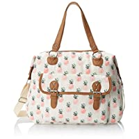 Wild Pair Printed Weekender with Front Pocket Duffle Bag, Tan, One Size