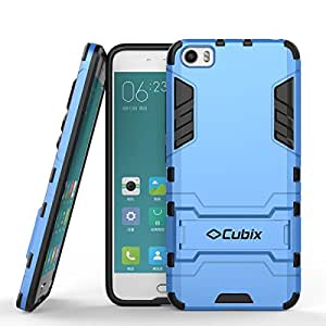 Mi 5 Case, Case Cover UV Coated Case Cover With Stand for Xiaomi Mi 5 (Blue)