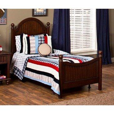 Hillsdale Westfield Poster Bed In Espresso - Twin