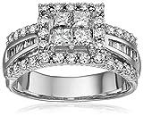 14k Dia Princess Quad Center Engagement Ring (2cttw, H-I Color, I1-I2 Clarity)