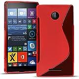 Microsoft Lumia 532 Silikon Hülle Case in Rot Cover Lumia