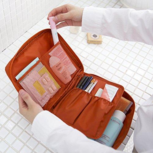 Contever® moda Donna Borsa da Viaggio Sacchetto della lavata Pacchetto multifunzionale bagagli Trucco Cosmetici Organizer Tasca -- Arancione