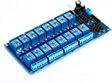 XCSOURCE® Módulo de Relés de 12V y 16 Canales, Panel de Expansión con Optoacoplador para Arduino Raspberry Pi DSP AVR PIC ARM TE285