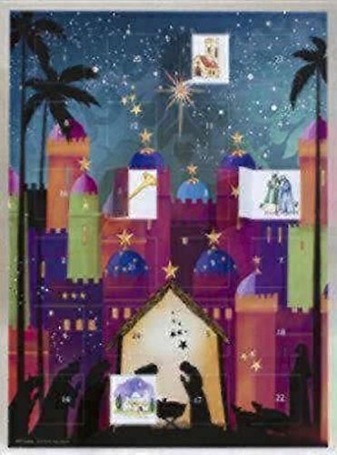 Nativity Silhouette Advent Calendar (includes envelope): 10.75 x 14.75