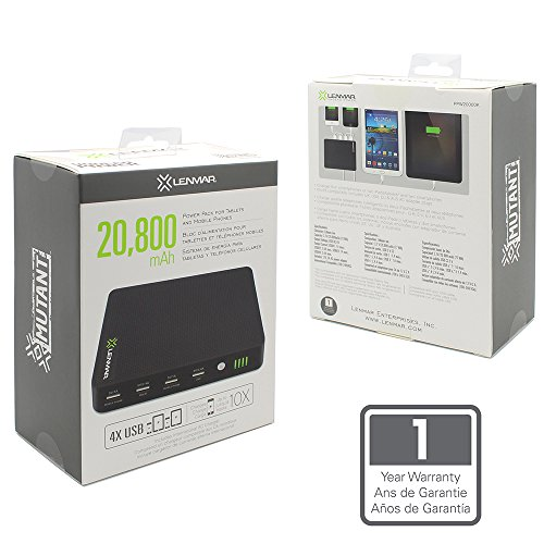 Lenmar-PPW20000K-20800mAh-4-USB-Port-Power-Bank