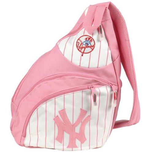 New York Yankees - Logo Pink Sling Backpack MLB Pro BaseballPink Yankees Logo