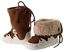 Kuner Unisex Baby Soft Bottom Shoe laces Warm Boots (13cm (12-18 Months))