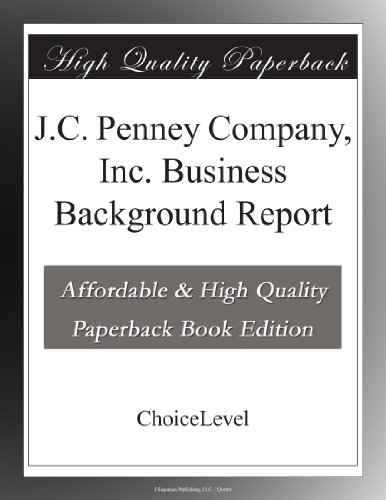 jc-penney-company-inc-business-background-report