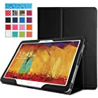 MoKo Samsung Galaxy Note 10.1 2014 Edition & Tab PRO 10.1 Case - Slim Folding Cover for Galaxy Note 10.1 Inch 2014 Edition Tablet & TabPRO 10.1 Tablet, BLACK (With Smart Cover Auto Wake / Sleep)