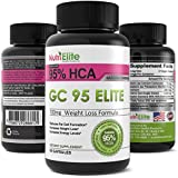 NutriElite 95% HCA Pure Garcinia Cambogia Extract ★ The Best Premium Powerful Appetite Suppressant and Leads To Full Time Energy and Assists With Slimming ★ Elite Weight Loss Products are All Natural ★ This Fat Burner Works With Colon Cleanse Pills Containing Psyllium Husk