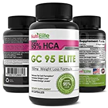 buy Nutrielite 95% Hca Pure Garcinia Cambogia Extract ★ The Best Premium Powerful Appetite Suppressant And Leads To Full Time Energy And Assists With Slimming ★ Elite Weight Loss Products Are All Natural ★ This Fat Burner Works With Colon Cleanse Pills Contai
