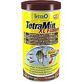Tetra 708945 TetraMin XL Flakes, Hauptfutter für alle Zierfische mit einem größeren Maul für ein langes und gesundes Fischleben, 1 L
