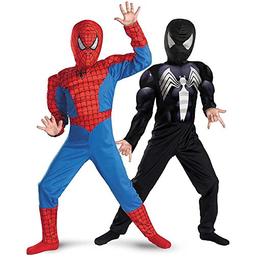 Reversible Spider-Man Red to Black Muscle Kids Costume