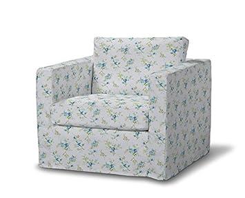 FRANC-TEXTIL 620-141-16 Karstad sillón funda de largo, funda sillón, Karlstad sillón, Mirella, azul/gris