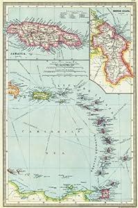 West indies lesser antilles maps of jamaica for Case in stile british west indies