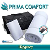 Prima Comfort Memory Foam Portable Travel Mattress Topper and pillow- The Regency - 7 DAY MONEY BACK GUARANTEE!! (70x190x5cm mattress with Coolmax cover and Wheeled holdall)
